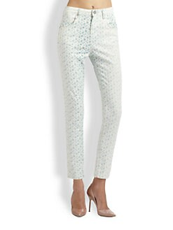girl. by Band of Outsiders - High-Rise Floral Skinny Jeans