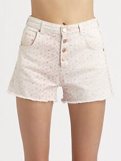 girl. by Band of Outsiders - Edie Floral-Print Shorts