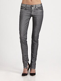 Athe Vanessa Bruno - Metallic Skinny Jeans