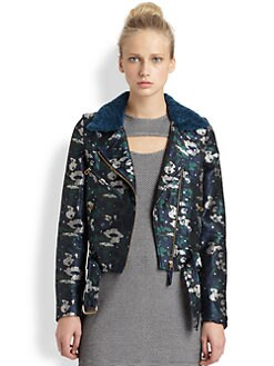 Opening Ceremony - Shearling-Trim Jacket