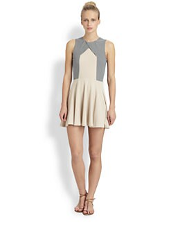 Opening Ceremony - Seamed Cross-Panel Knit Dress