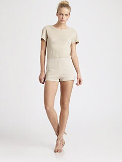 Opening Ceremony - Striped Short Jumpsuit