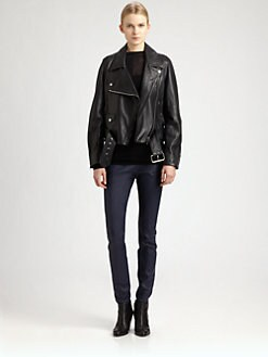 Acne - Merci Leather Moto Jacket