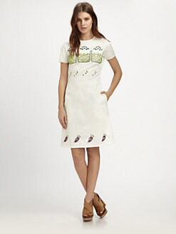 Opening Ceremony - Pine Embellished Dress