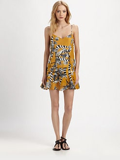 Thakoon Addition - Linen & Silk Ruffle Dress