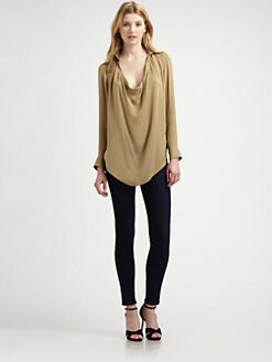 Haute Hippie - Silk Cowlneck Shirt