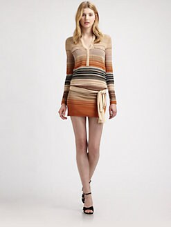 Haute Hippie - Belted Thermal Dress