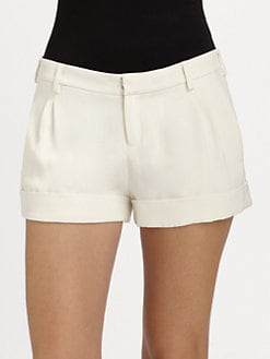 Haute Hippie - Silk Tuxedo Shorts