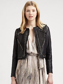 Haute Hippie - Quilted Leather & Chain Jacket