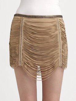 Haute Hippie - Fringe Mini Skirt