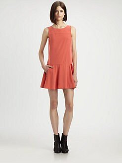 Rag & Bone - Sofia Pleated Stretch-Silk Dress