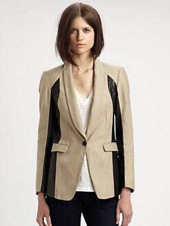 Rag & Bone - Jefferson Leather-Panel Blazer