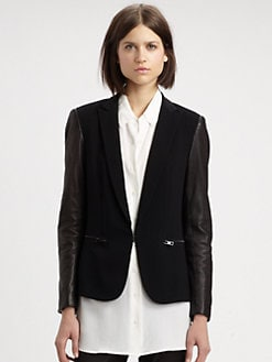Rag & Bone - Moto Leather-Panel Blazer