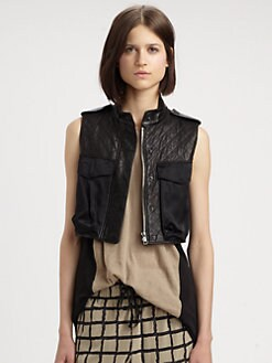 Rag & Bone - Highclare Leather & Silk Vest