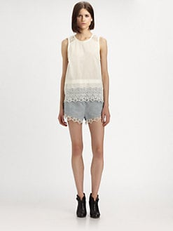 Rag & Bone - High Clare Cotton/Linen Shorts