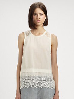 Rag & Bone - Elodie Lacy Cotton Top