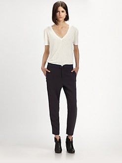 Rag & Bone - Dakar Leather-Trimmed Pants