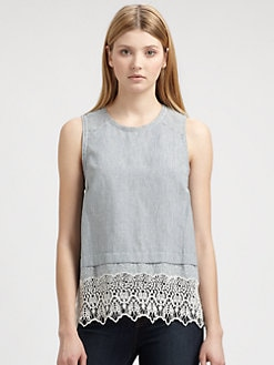 Rag & Bone - Elodie Pinstriped Top