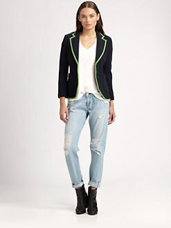 Rag & Bone - Bromley Silk-Trim Wool Blazer
