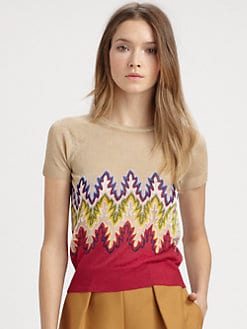 Carven - Jacquard-Print Sweater