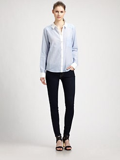 Elizabeth and James - Shawn Contrast-Collar Shirt