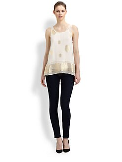 Elizabeth and James - Leslie Silk Paisley Top