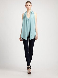 Elizabeth and James - Grace Drape-Front Top