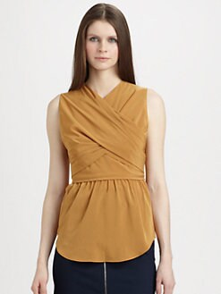 Carven - Gathered Crisscross Top