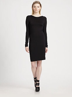 T by Alexander Wang - Drape-Back Jersey Dress