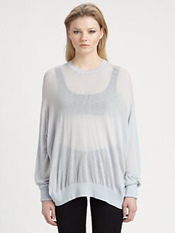 T by Alexander Wang - Sheer Crewneck Pullover