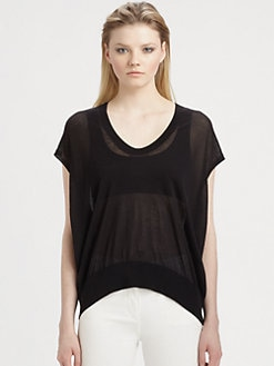 T by Alexander Wang - Sheer Cap Sleeve Tunic