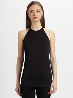 T by Alexander Wang - Draped-Back Halter Top