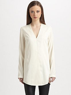 T by Alexander Wang - Habotai Cross-Front Tunic