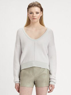 T by Alexander Wang - Herringbone Knit Sweater