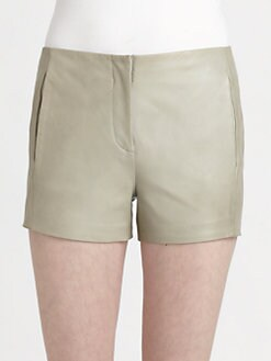 T by Alexander Wang - Lightweight Leather Shorts