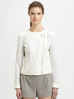 Athe Vanessa Bruno - Crocheted Cotton Cropped Jacket