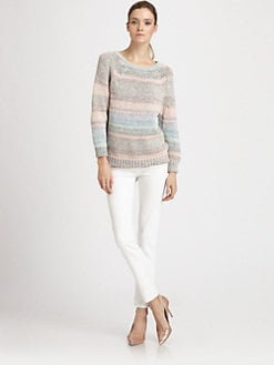 Athe Vanessa Bruno - Ombr&#233; Striped Cotton Sweater