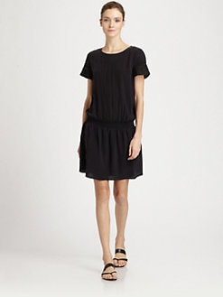 Athe Vanessa Bruno - Washed Silk Pintucked Dress
