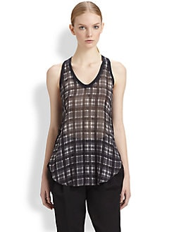 3.1 Phillip Lim - Napped Silk Tank Top