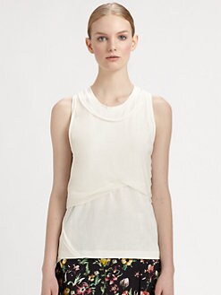 3.1 Phillip Lim - Twisted Silk & Cotton Top