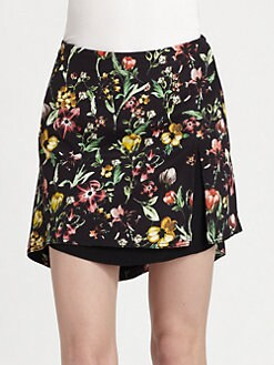 3.1 Phillip Lim - Botanical-Print Silk Flirt Skirt