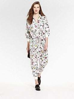 3.1 Phillip Lim - Botanical-Print Silk Flight Suit