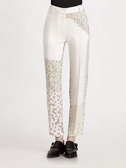 3.1 Phillip Lim - Ditsy Floral Patchwork Silk Pants