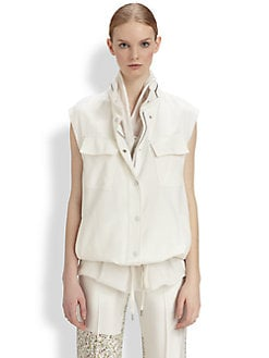 3.1 Phillip Lim - Mixed Silk Double-Layer Vest