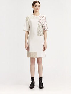 3.1 Phillip Lim - Ditsy Floral Patchwork Silk Dress