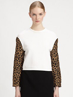 3.1 Phillip Lim - Leopard-Sleeve Sweatshirt