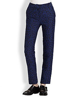 3.1 Phillip Lim - Leopard Jacquard Pencil Trousers