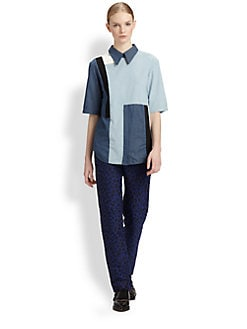 3.1 Phillip Lim - Patchwork Chambray Cut-Up Shirt