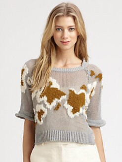 3.1 Phillip Lim - Open-Knit Intarsia Sweater