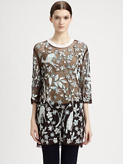 3.1 Phillip Lim - Overexposed Sheer Applique Shirt
